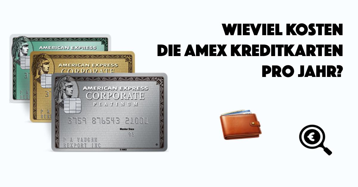 Wieviel kosten die AMEX Karten im Vergleich pro Jahr?